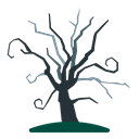 Tree, Dead, halloween, old, Holidays, scary, dry Black icon