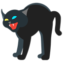 Cat, Animal, pet, halloween, Holidays, scary Black icon