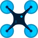 electronics, Remote control, drone, Camera, transportation, transport, fly DeepSkyBlue icon