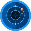 electronics, Positional, Maps And Location, radar, place, Area, technology MidnightBlue icon