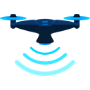 Remote control, drone, transportation, transport, fly, electronics Black icon