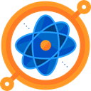 science, Atomic, education, nuclear, Electron, physics Goldenrod icon