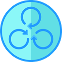 rotate, spin, Arrows MediumTurquoise icon