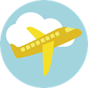 flight, Aeroplane, airplane, Airport, transportation, Plane, transport LightBlue icon