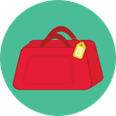 luggage, baggage, travelling, suitcase, travel, Tools And Utensils CadetBlue icon