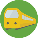rails, travelling, transportation, travel, transport, street, train OliveDrab icon