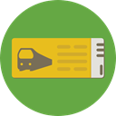 Access, Ticket, transportation, travel, train, Metro OliveDrab icon