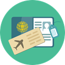 document, Identity, passport, travel, technology, identification CadetBlue icon