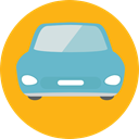 transport, vehicle, Automobile, Car, transportation Orange icon