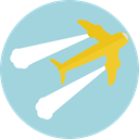 Aeroplane, airplane, Plane, transport, flight, Airport, transportation Icon