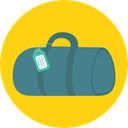 suitcase, travel, luggage, baggage, travelling, Tools And Utensils Gold icon