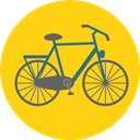 Bike, Antique, Bicycle, vintage, transportation, transport Gold icon