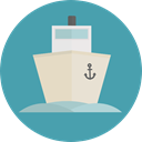 transportation, Boat, transport, ship, Cruise, Yacht, Ships CadetBlue icon