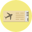 Plane Tickets, Ticket, travel, Holidays, Airfare, Passage, Plane Ticket Khaki icon