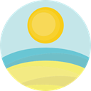 Summertime, warm, summer, meteorology, sun, weather, nature, Sunny PowderBlue icon