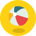 Holidays, summer, Fun, Ball, Beach ball, leisure Gold icon