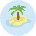 nature, Beach, summer, tropical, Summertime, Palm Tree, Botanical Lavender icon