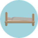 Bed, Sleeping, Furniture And Household, hotel, Sleepy, Hostel LightBlue icon