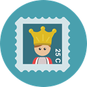 Shipping And Delivery, Stamps, Mailing, Mailed, mail, Stamp CadetBlue icon