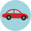 transport, vehicle, Automobile, Car, transportation LightBlue icon