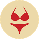 Clothes, clothing, Beach, Bikini, fashion, Swimming Pool, Summertime, Femenine Wheat icon
