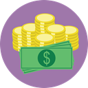 Notes, Business, Change, Money, Business And Finance, Commerce And Shopping, Coins, Cash, stack, Currency RosyBrown icon