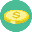 Business, Money, coin, Cash, Currency, Business And Finance, Commerce And Shopping CadetBlue icon