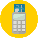 Business, commerce, pay, Credit card, Debit card, payment method, Point Of Service, Commerce And Shopping Gold icon