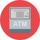 Business, Money, machine, Atm, cash machine, Cash Point, Commerce And Shopping Icon