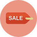 tag, shopping, Price, Shop, Label, price tag, Commerce And Shopping DarkSalmon icon