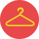 clothing, hanger, wardrobe, Closet, Tools And Utensils, Commerce And Shopping Tomato icon