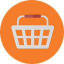 shopping basket, Supermarket, online store, Shopping Store, Commerce And Shopping, commerce Chocolate icon