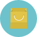 shopping bag, Supermarket, Shopper, Commerce And Shopping, Business, commerce, shopping, Bag MediumAquamarine icon