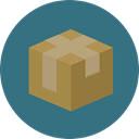 package, Box, packaging, Business, Delivery, cardboard, fragile, Shipping And Delivery SeaGreen icon