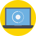 Laptop, Computer, technology, electronic, electronics, computing Gold icon
