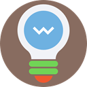 Light bulb, Idea, electricity, bulb, illumination, technology, Tools And Utensils DimGray icon