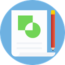 document, File, finances, Business And Finance, Archive, chart, Stats, Pie chart CornflowerBlue icon