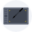 Design, Tablet, touch screen, technology, ipad, electronic, electronics WhiteSmoke icon