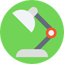 light, illumination, lamp, Desk lamp, Tools And Utensils YellowGreen icon