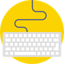 computing, Keyboard, Computer, Keys, technology, electronic, electronics Gold icon