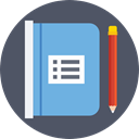 bookmark, Address book, Notebook, Business, Agenda, Tools And Utensils DimGray icon