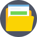 storage, file storage, Data Storage, Office Material, Files And Folders, Folder, interface DimGray icon