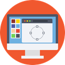 Browser, internet, Computer, web, interface, ui, computing, Seo And Web Tomato icon