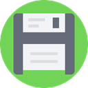interface, storage, digital, disquette, button, save, tool, Data, Tools And Utensils YellowGreen icon