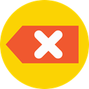 Arrows, delete, go back, previous, return, networking, left arrow Gold icon