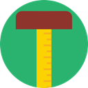 Tools And Utensils, Graphic Tool, Measuring, tool, triangle, education, graphic design, ruler MediumSeaGreen icon