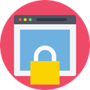 Browser, password, security, web, interface, privacy, webpage, Web Security IndianRed icon
