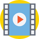 entertainment, Film Strip, Camera Film, Music And Multimedia, Seo And Web, Negative Film, photography, Negative CornflowerBlue icon