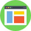 Browser, website, computing, web page, Seo And Web, internet, web, interface, ui YellowGreen icon