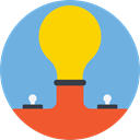 Light bulb, Idea, electricity, illumination, technology, invention, Seo And Web CornflowerBlue icon